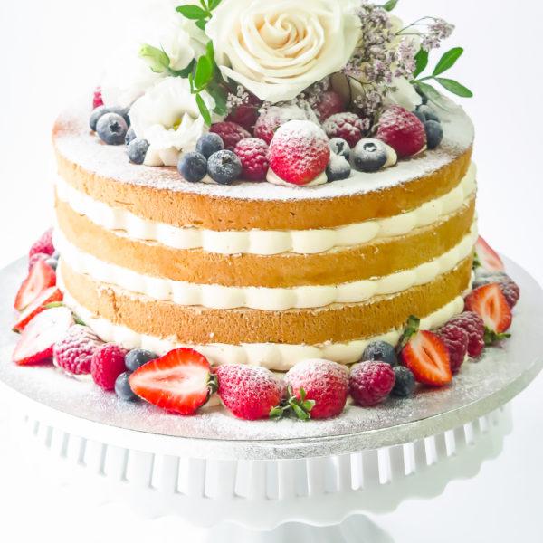 LM114 - tort urodzinowy, na urodziny, z owocami, naked, z kwiatami, w kremie, last minute, na ostatnią chwilę, bez masy cukrowej, cukiernia z dostawą, transportem, dostawą, Warszawa, Piaseczno, Konstancin Jeziorna,, Otwock, Góra kalwaria, Wilanów