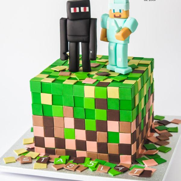 U108 - tort, urodzinowy, na urodziny, minecraft, artystyczny, dla dzieci, najlepsze torty, z dostawą, z transportem, dowozem, cukiernia, warszawa, piaseczno, konstancin jeziorna, góra kalwaria, wilanów, otwock