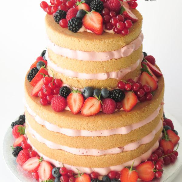 U634 - tort urodzinowy, na urodziny, artystyczny, wyjątkowy, z owocami, w kremie, naked, bez masy cukrowej, cukiernia z dostawą, transportem, dowozem, warszawa, piaseczno, konstancin jeziorna, góra kalwaria, otwock