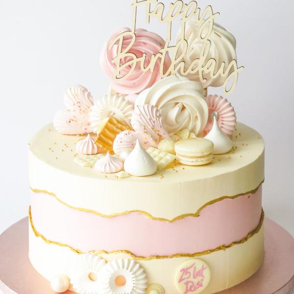 U642 - tort urodzinowy, na urodziny, artystyczny, wyjątkowy, elegancki, kobiecy złocony, topper, dla żony, fault line, w kremie, bez masy cukrowej, cukiernia z dostawą, transportem, dowozem, warszawa, piaseczno, konstancin jeziorna, góra kalwaria, otwock