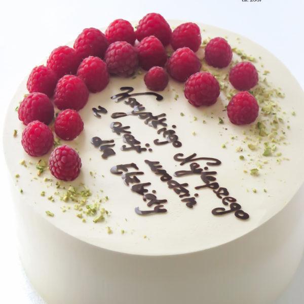 U651 - tort urodzinowy, na urodziny, artystyczny, wyjątkowy, z owocami, malinami, pistacjami, w kremie, bez masy cukrowej, najlepsze, najsmaczniejsze, torty, cukiernia z dostawą, transportem, dowozem, warszawa, piaseczno, konstancin jeziorna, góra kalwaria, otwock