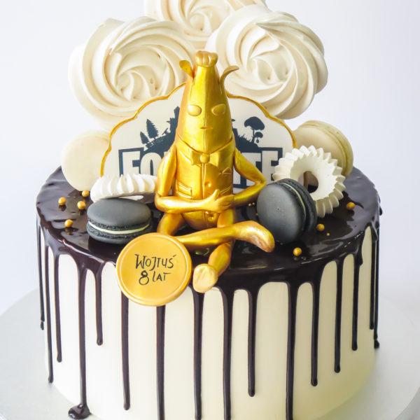 U665 - tort urodzinowy, na urodziny, artystyczny, wyjątkowy, fortnite, złoty banan, drip, beziki, makaroniki, w kremie, bez masy cukrowej, najlepsze, najpiękniejsze torty,cukiernia z dostawą, transportem, dowozem, warszawa, piaseczno, konstancin jeziorna, góra kalwaria, otwock