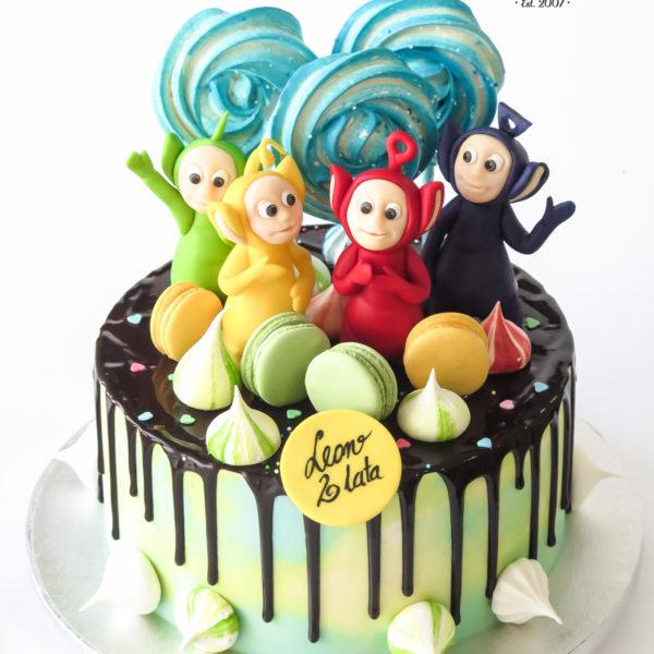 U666 - tort urodzinowy, na urodziny, artystyczny, wyjątkowy, teletubisie, drip, beziki, makaroniki, w kremie, bez masy cukrowej, najlepsze, najpiękniejsze torty,cukiernia z dostawą, transportem, dowozem, warszawa, piaseczno, konstancin jeziorna, góra kalwaria, otwock
