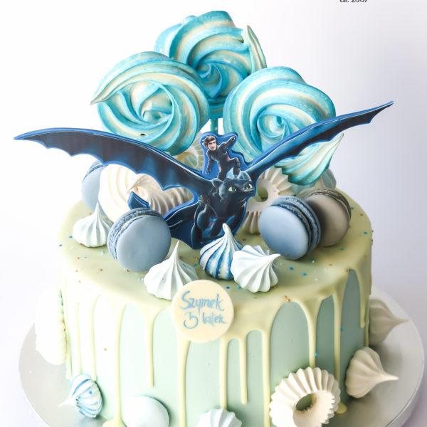 U673 - tort urodzinowy, na urodziny, artystyczny, wyjątkowy, jak wytresować smoka, drip, beziki, makaroniki, w kremie, bez masy cukrowej, najlepsze, najpiękniejsze torty,cukiernia z dostawą, transportem, dowozem, warszawa, piaseczno, konstancin jeziorna, góra kalwaria, otwock