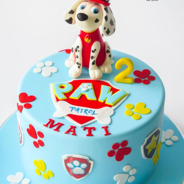 U675 - tort urodzinowy, na urodziny, artystyczny, wyjątkowy, z pieskiem, psi patrol, dla chłopca, najlepsze, najpiękniejsze, torty,cukiernia z dostawą, transportem, dowozem, warszawa, piaseczno, konstancin jeziorna, góra kalwaria, otwock