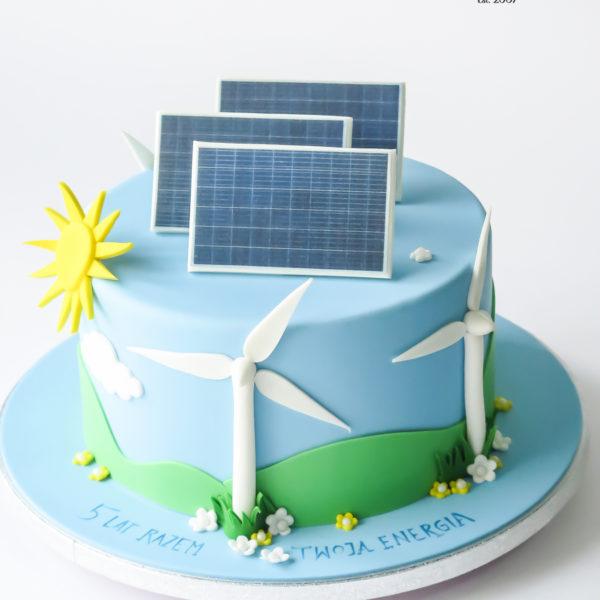 U676 - tort urodzinowy, na urodziny, artystyczny, wyjątkowy, elegancki, fotowoltaika, cukiernia z dostawą, transportem, dowozem, warszawa, piaseczno, konstancin jeziorna, góra kalwaria, otwock