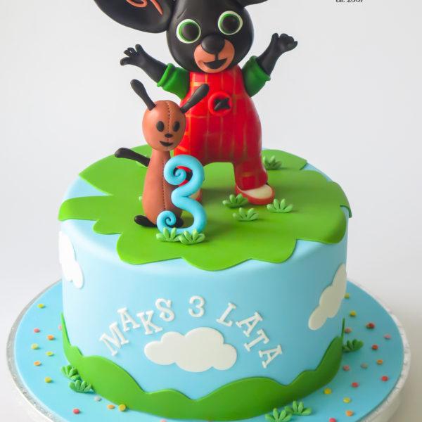 U680 - tort urodzinowy, na urodziny, artystyczny, wyjątkowy, króliczek, bing, dla chłopca, najlepsze, najpiękniejsze, torty,cukiernia z dostawą, transportem, dowozem, warszawa, piaseczno, konstancin jeziorna, góra kalwaria, otwock