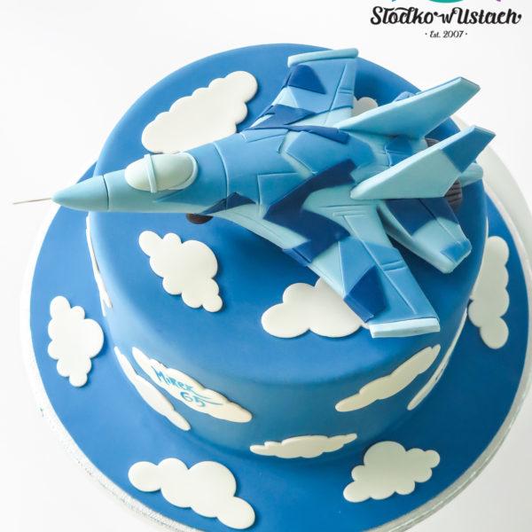 U681 - tort urodzinowy, na urodziny, artystyczny, wyjątkowy, z samolotem, dla chłopca, najlepsze, najpiękniejsze, torty,cukiernia z dostawą, transportem, dowozem, warszawa, piaseczno, konstancin jeziorna, góra kalwaria, otwock