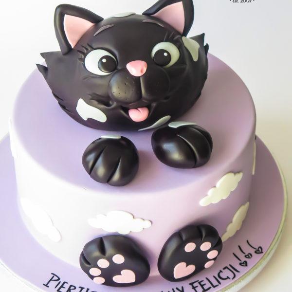 U682 - tort urodzinowy, na urodziny, artystyczny, wyjątkowy, z kotkiem, kot, najlepsze, najpiękniejsze, torty,cukiernia z dostawą, transportem, dowozem, warszawa, piaseczno, konstancin jeziorna, góra kalwaria, otwock