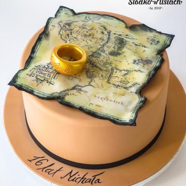 U692 - tort urodzinowy, na urodziny, artystyczny, wyjątkowy, hobbit, drużyna pierścienia, dla chłopca, dla nastolatka, najlepsze, najpiękniejsze, torty,cukiernia z dostawą, transportem, dowozem, warszawa, piaseczno, konstancin jeziorna, góra kalwaria, otwock