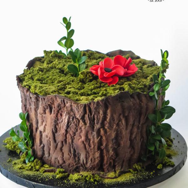 U696 - tort urodzinowy, na urodziny, artystyczny, wyjątkowy, drzewo, las, leśny, pieniek, forest, najlepsze, najpiękniejsze, torty,cukiernia z dostawą, transportem, dowozem, warszawa, piaseczno, konstancin jeziorna, góra kalwaria, otwock