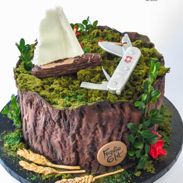 U702 - tort urodzinowy, na urodziny, artystyczny, wyjątkowy, drzewo, las, leśny, pieniek, forest, najlepsze, najpiękniejsze, torty,cukiernia z dostawą, transportem, dowozem, warszawa, piaseczno, konstancin jeziorna, góra kalwaria, otwock