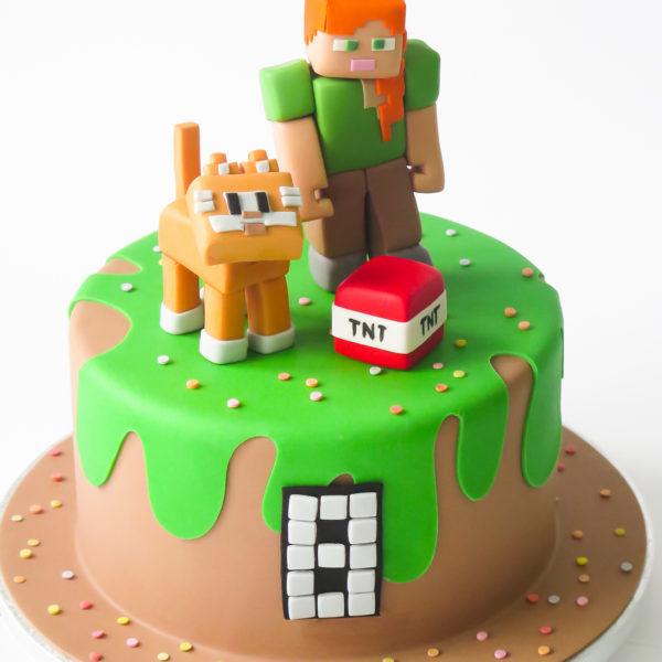 U704 - tort urodzinowy, na urodziny, artystyczny, wyjątkowy, minecraft, dla dziewczynki,, najlepsze, najpiękniejsze, torty,cukiernia z dostawą, transportem, dowozem, warszawa, piaseczno, konstancin jeziorna, góra kalwaria, otwock