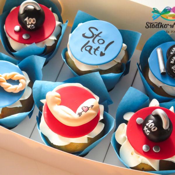 C201 - cupcakes, muffiny, urodzinowe, siłownia, słodki stół, kącik, candy, bar , urodziny, personalizowane, z dostawą, prezenty, warszawa, piaseczno, konstancin jeziorna, polska,
