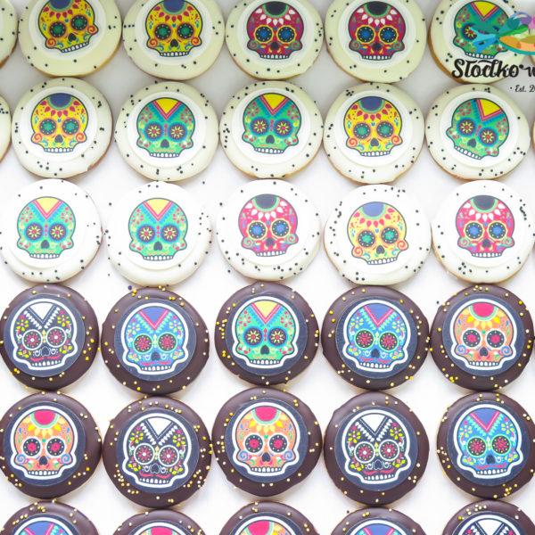 C202 - ciastka, kruche, prezenty, halloween, dia de los muertos, słodki stół, kącik, candy, bar , warszawa, z dostawą, polska