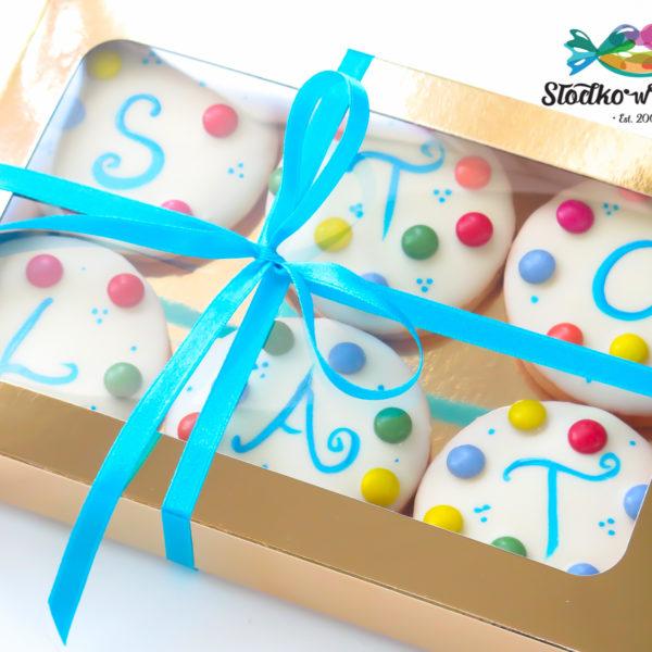 C215 - ciastka, kruche, w czekoladzie, prezenty, słodki stół, kącik, candy, bar , warszawa, z dostawą, polska