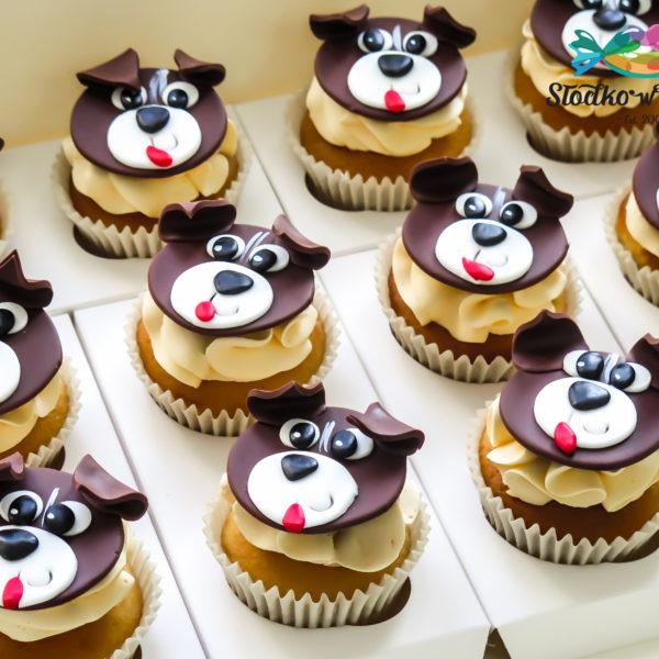 C267 - cupcakes, muffiny, urodzinowe, pieski, słodki stół, kącik, candy, bar , urodziny, personalizowane, z dostawą, prezenty, warszawa, piaseczno, konstancin jeziorna, polska,