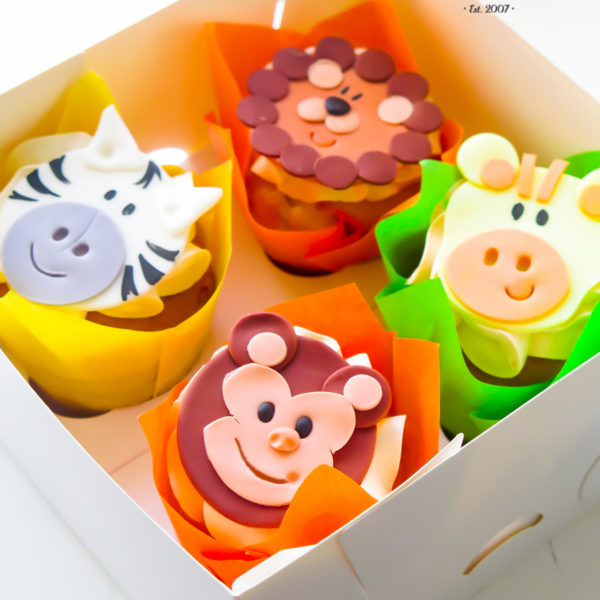 C287 - cupcakes, muffiny, urodzinowe, zwierzaki, lew, małpka,, słodki stół, kącik, candy, bar , urodziny, personalizowane, z dostawą, prezenty, warszawa, piaseczno, konstancin jeziorna, polska,